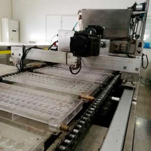 China Wafer Biscuit Production Line Semi Automatic / Automatic Coin Chocolate Pure Chocolate on sale