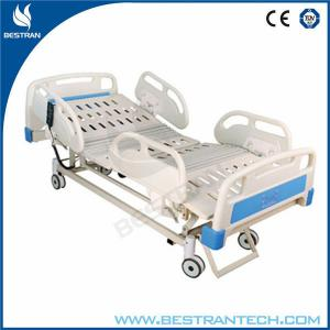 China Fully ICU Electric Hospital Beds For Patient With ABS Soft Joint Bedboard on sale