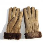 sheepskin double face gloves lamb fur gloves