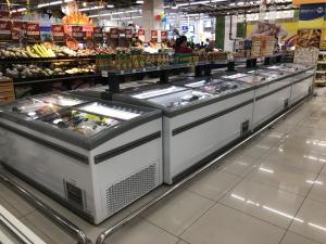 China Green&Health Supermarket Combined Island Freezer with Large Capacity 3 Option Colors on sale