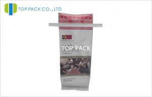 China Lamination Side Gusseted plastic bags moisture proof With Valve Tin Tie on sale