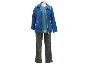 China Cotton Print Women'S Long Sleeve Pyjama Set , Ladies 3 Piece Pyjama Set Breathable on sale