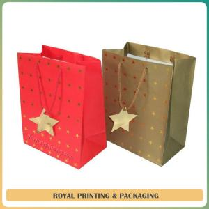 China customize colorful paper gift bag printing on sale
