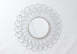 China Wrought Iron Contemporary Silver Sunburst Wall Decor on sale