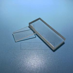 China Rectangle Shape Silica Fused Quartz Plate Double Side Polished DSP GS1,GS2,GS3 Grade on sale