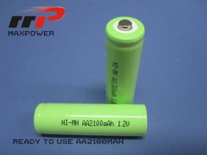 China Ready charging nimh Rechargeable Battery 1.2V AA2100mAh CE UL on sale