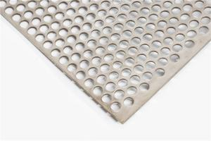 China 1.2 Mm 0.9 Mm 1.5 Mm SS Perforated Sheet Metal BA 2B Surface Treatment on sale