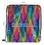 Shining Sequin Backpack Back Pack,Glitter Drawstring Backpack Bling Shining Bag Shoulder Bag Sequin Backpack, bagplastic