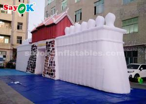 China ROHS Custom Inflatable Products  ,  Commercial LED Inflatable Rock Wall For Outdoor Display on sale