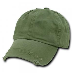 China Olive Green Vintage Polo Casual Baseball Caps Distressed Cotton Soft Weathered Torn on sale