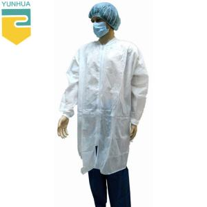 China Breathable Disposable Lab Coat Acid - Resistant Providing Effective Protection supplier