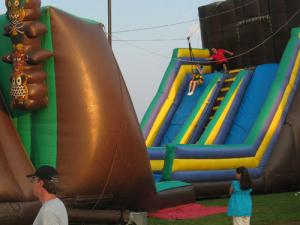 China Exciting Inflatable Zip Line for Event and Party Team Challenge Games on sale