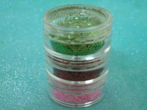 China Chunky Fine Glitter Powder For Decorating , Laser Glitter Powder on sale
