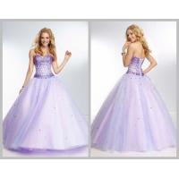 Floor Length Tulle Sweetheart Princess Quinceanera Dresses Beaded Crystal Sequins