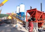 25m3 Ready Mixed Cement Mixing Plant With Three Bins Batching And Mixing Equipment