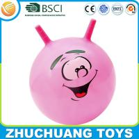 China wholesale bulk handle custom printed bouncy balls cheap on sale