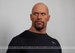 China Famous Dwayne Johnson Silicone Action Figure For Wax Museum on sale
