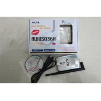 China 802.11b/g 1000mw High gain Alfa USB Wifi Adapter with REALTEK RTL8187L Chipset AWUS036H on sale