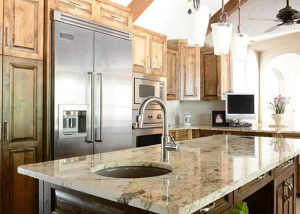 Polished Natural Stone Kitchen Countertops Island Tops With ...
