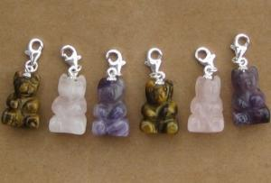 China Little bear stone charms on sale