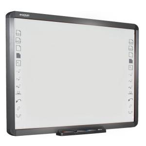 China QOMO digital interactive touchscreen whiteboards with Hot Key Shortcuts Supports e-Learning Solutions with Stand on sale