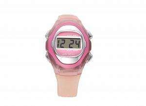 China Vogue Pink 3 ATM Waterproof Silicone Digital Watch LCD Alarm Wristwatch on sale