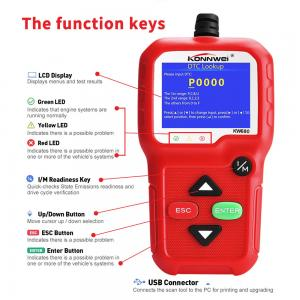 China OBD2 Car Computer Code Reader Konnwei KW680 Scanner With CE Rohs Approval on sale