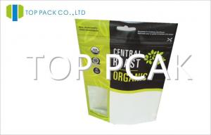 China Standing UADA Organic Food Packaging Bags Pouch Ziplock Moisture Proof on sale
