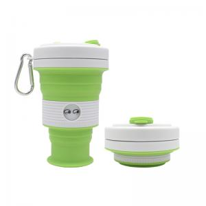 China ECO Friendly 550ML Foldable Silicone Cup For Outdoor on sale