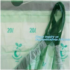 China customer wholesale corn starch biodegradable compostable eco friendly laundry bag for hotel, Dissolvable laundry bag eco on sale