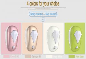 China Diamond Indoor Motion Sensor Light Pir Motion Sensor Battery Powered Led Night Light on sale