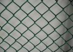 2'' Aperture Dark Green Chain Link Security Fence Roll For Outdoor Fencing