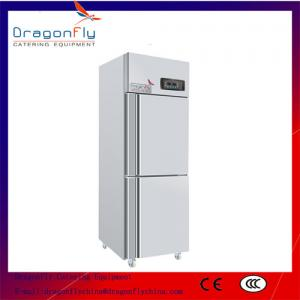China 2 Door Upright Fridge Display Coolers Showcase Freezer Air Cooling on sale