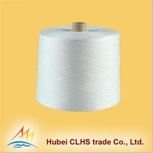 China Textile Polyester Ring Spun Yarn For T Shirts , Crease Resistant Polyester Yarn on sale