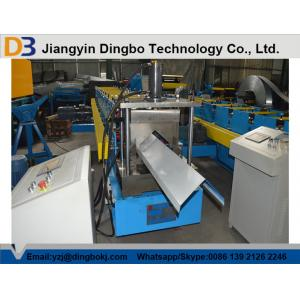 China Mould Hydraulic Cutting Color Steel Ridge Cap Making Machine on sale