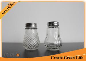 China 100ml Pepper / Sauce Glass Bottles With Liner and Shaker Lid , Glass Spice Bottle on sale