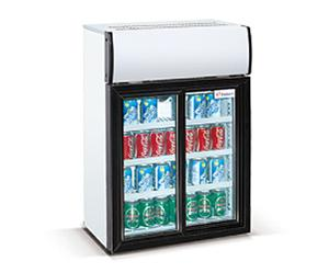 China 85L double door MiniBar Baverage Fridge/Countert top showcase on sale