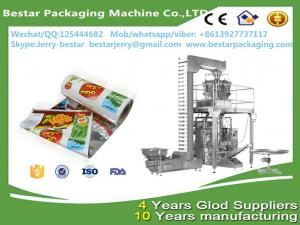 China FDA certificated laminated plastic macaroni packaging roll with bestar 10 heads weighting packaging machine on sale