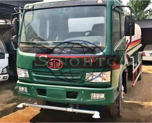 China 4x2 FAW Water Tanker Truck 4000 - 6000 Liters Tanker Volume Manual Gearbox on sale