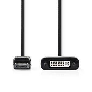 China Laptop Displayport To Dvi Video Cable , Mini Dp To Dvi Cable Full HD Resolution on sale