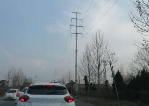 China 220kv Tubular Transmission Tower , Electricity Pole Polygon Overhead Line Tower on sale
