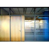100mm Thickness Office Glass Wall Systems , Glass Office Dividers Pre Finished Aluminum