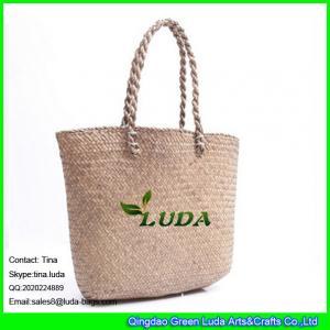 China LUDA women straw tote bag seagrass weave storage basket bag on sale