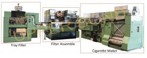 China 5000cig/min Green Cigarette Packaging Machine MAXS Plug Assembler 50KVA Tray Filler on sale