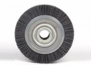 China 6 Inch Circular Nylon Wire Wheel Brush / Nylon Bristle Wheel For Decorative Glass on sale