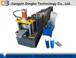 China Steel Rain Water Gutter Equipment Cold Roll Forming Machine With Chain Transmission on sale