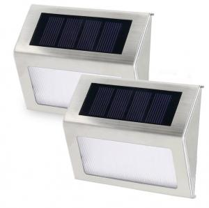 China Super Bright Small Solar Wall Lights Outdoor With Motion Sensor Detector / LED Stair Lights on sale