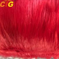 New Product Long Hairs Plain Faux / Synthetic Fur Fabric for Sofa and Car Seat Cover