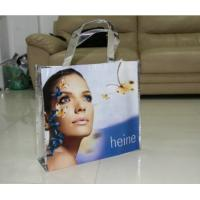 China Full Color Printing Non-woven Shopping Bag , Recycled Plastic Shopping Bags For Suit / Shoes / Cosmetic on sale