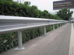 China Hot Dipped Galvanized W - Beam Highway Metal Guard Rails For Road Safey Barrier on sale